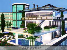 The Sims 4 Mody: Podniebna wieża od Danuta 720 (bez CC)