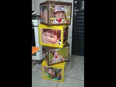 Como fazer cubos de fotos pra decorar a festa de aniversário! - YouTube