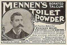 Vintage Man with Fancy Mustache ~ Mennen's Toilet Powder Clipart