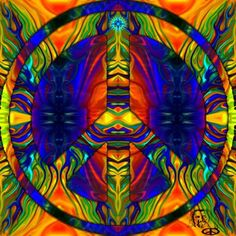 ☮✌~Paz~✌☮ ❤~ AMOR ~❤  ❤☮✌Peace☮∞L♡VE∞★ Hippie Peace Sign Art....