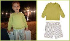 Felpa cedro e bermuda a righe, tutto Babe & Tess, tutto -50% su www. cocochic.it Outfit impeccabile  http://www.cocochic.it/it/bambino/750-bermuda-a-righe-indigo-e-ecru.html http://www.cocochic.it/it/bambino/752-felpa-cedro.html