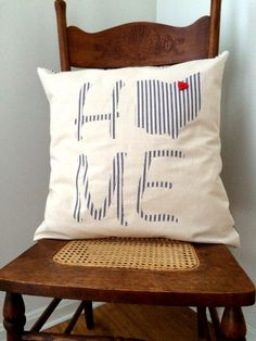Ohio Home Pillow - by LindasOtherLife on Etsy