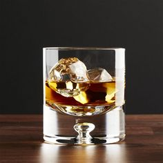 Direction 9 oz. Double Old-Fashioned Glass - Crate and Barrel