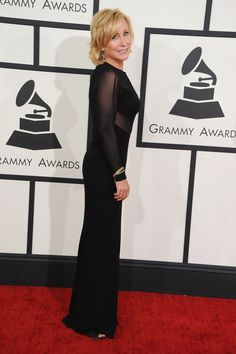 Nominee Nan Schwartz arrives at the 56th Annual GRAMMY Awards on Jan. 26 in Los Angeles