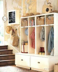Nice little mudroom area.