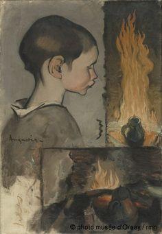 Louis Anquetin Profil d'enfant et étude de nature morte entre 1861 et 1932 huile sur toile H. 0.59 ; L. 0.41 Musée d'Orsay: Collection