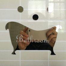 3 pcs Wc Sinal de Entrada Porta de Acrílico Superfície do Espelho/Adesivo de…