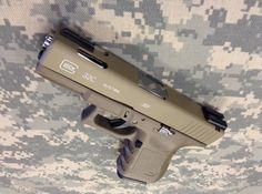 Glock 20 with Cerakote™ Burnt Bronze H-148Q and OD Green H ...