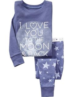 """Love You to the Moon"" Sleep Sets for Baby"