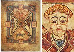 THE BOOK OF KELLS, f° 290 v°, symbole des 4 évangélistes.