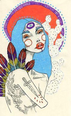 Abstract Face Art, Notebook Drawing, Skeleton Art, Tarot, Hippie Art, Gold Art, Photoshop, Watercolor And Ink, Figurative Art