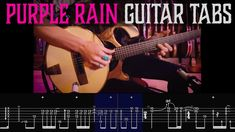 """""""PURPLE RAIN"""" Guitar with TABS • Fingerstyle Prince Cover by Justin Johnson Guitar Tabs, Purple Rain, My Favorite Music, Prince, Songs, Feelings, Learning, My Love, Cover"""