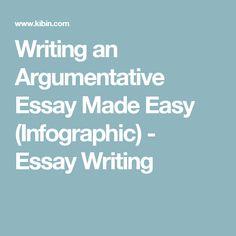 Writing an Argumentative Essay Made Easy (Infographic) - Essay Writing