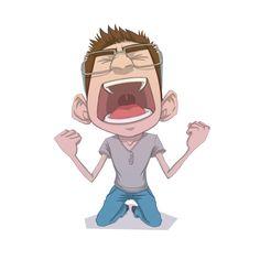 Angry Man Vector Graphics #angry #man #character #vector