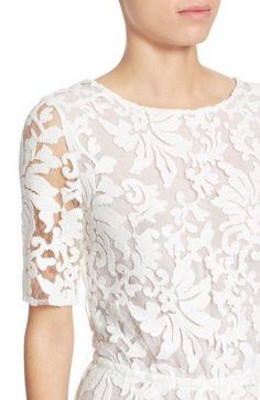 Free shipping and returns on Diane von Furstenberg 'Kendra' Embellished Lace Jumpsuit at Nordstrom.com. The feminine qualities of ornate white lace are tempered with the sleek modern silhouetteand geometric back cutoutof this flared-leg jumpsuit, a statement-making option for special occasions.