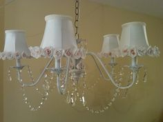Shabby Chic chandelier made by CMB Designs Lamps and shades, Trinidad