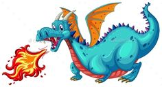 Buy Dragon by interactimages on GraphicRiver. Illustration of a dragon blowing fire Dragon Birthday, Dragon Party, Florist Logo, Super Images, Clip Art Pictures, Clay Dragon, Baby Dinosaurs, Dinosaur Art, Mundo Animal