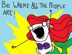 YES! Disney Girls, Disney Love, Disney Magic, Disney Art, Little Mermaid Meme, Hyperbole And A Half, All The Things Meme, Funny Things, Disneybound