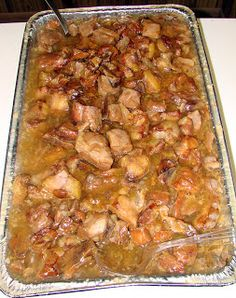 """--""""Kaukau"""" is a Hawaiian pidgin slang word meaning """"food"""" or """"to eat. Ono Kine Recipes, Rib Recipes, Asian Recipes, Mexican Food Recipes, Cooking Recipes, Ethnic Recipes, Asian Foods, Potluck Dishes, Pork Dishes"""