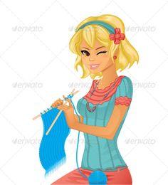 Grandma Knitting Illustration » Tinkytyler.org - Stock Photos ...