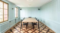 Restaurant Falkenburg SG - Zimmer Conference Room, Table, Furniture, Home Decor, Gothic Room, Single Bedroom, Spiral Stair, Decoration Home, Room Decor
