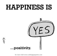 Happiness is, positivity. - Cute Happy Quotes