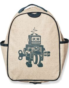 Grey Robot Toddler Backpack, available at Whole Foods