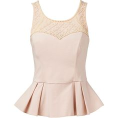 Forever New Cyrille embellished peplum bustier ($92) ❤ liked on Polyvore