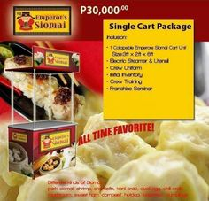 Emperor Siomai Food Cart Franchise for Php 30,000 only!  Contact me @ 0999-8414-273