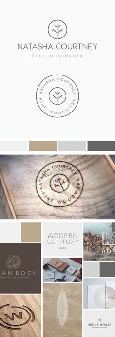 Natasha Courtney Fine Woodwork specialise in hand making fine woodwork products, many of which are unique, heirloom pieces. Natasha requested a logo from Inkee Press which depicted her love of Scandinavian and mid-century design, from where she draws her Great Logo Design, Graphisches Design, Logo Desing, Elegant Logo Design, Circle Logo Design, Minimal Logo Design, Circle Logos, Logo Inspiration, Corporate Design