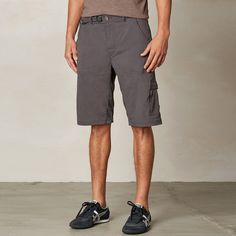 Prana Stretch Zion Short Charcoal Mens Apparel at Vickerey All-around good looks great functionality make this Zion Short from Prana your Saturday go-to. great climbing