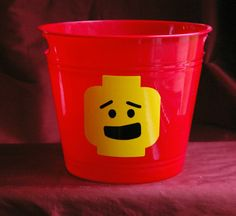 Lego Storage Plastic Bucket Lego Storage by CreoDesignsForYou