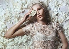 RALPH LAUREN BLUE LABEL LACE ROBE. MODEL: Aline Weber shot by Liz Collins May 2012 issue of Numero