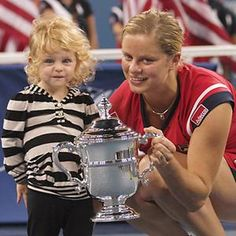Kim Clijsters proved that a  no.1 ranked Professional Women's Tennis Player can also have a family.