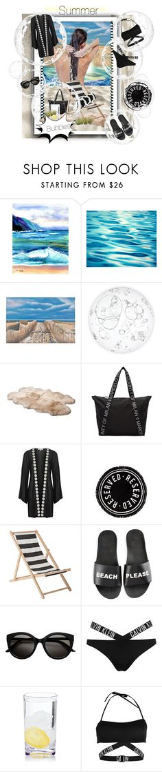 """""""Summer bubbles"""" by yvonne1406 ❤ liked on Polyvore featuring Hanalei, Safavieh, UGG Australia, County Of Milan, Topshop, Bloomingville, Schutz and Calvin Klein"""