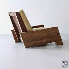 Chair by the brazilian designer Carlos Motta made of recycled massive wood - ZEITLOS – BERLIN by ida Unique Furniture, Pallet Furniture, Furniture Design, Furniture Stores, Furniture Plans, Furniture Chairs, Garden Furniture, Bedroom Furniture, Outdoor Furniture