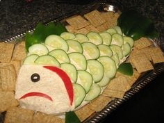 Going to make this for a summer fish theme party we are attending!