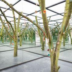 Spiegelbos in de Korenbeurs – Schiedam Atrium, Arch, Outdoor Structures, Garden, Longbow, Garten, Lawn And Garden, Gardens, Wedding Arches