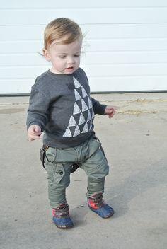 DIY sweatshirt plus those pants!
