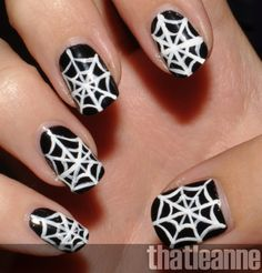 http://www.stylemotivation.com/23-easy-creative-and-funny-nail-art-ideas-for-halloween/  23 Easy Creative and Funny Nail Art Ideas for Halloween
