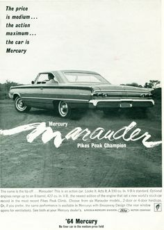 1964 Mercury Montclair Marauder 2 Door Hardtop