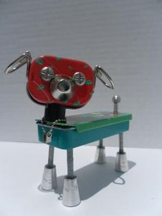 Buddy Bot - found object robot (reserved for Lisa in Australia) by aurora