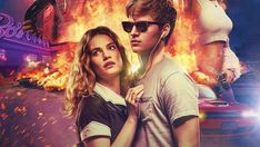 Baby Driver Ansel Elgort and Lily James 2017 Movie 1920x1080