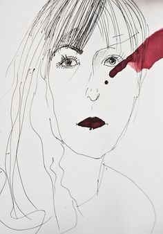 Agata. #ink #watercolor #drawing #portrait #inkdrawing