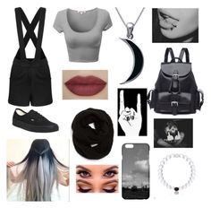 """""""Grunge love"""" by melenah ❤ liked on Polyvore featuring Vans, Echo and Carolina Glamour Collection"""
