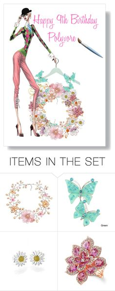 """""""Happy 9th Birthday Polyvore"""" by fm3happy ❤ liked on Polyvore featuring art"""