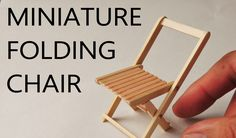 Really works!! ミニ折りたたみ椅子の作り方/ How to make a miniature folding chair.
