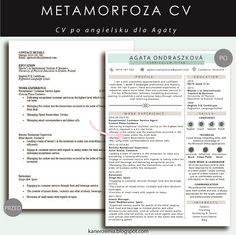 Karierownia - Blog dla przedsiębiorczych kobiet: METAMORFOZA CV: CV po angielsku… Curriculum, Language, Bullet Journal, Education, Blog, Resume, Teaching Plan, Languages, Blogging