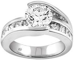 designer white gold engagement rings - Google Search