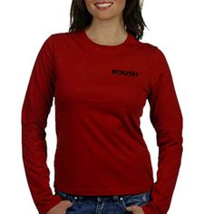 Roush Ladies Red Long Sleeved Knit Tee (1860), $25.95 (http://store.roushcollection.com/roush/roush-red-longsleeved-knit-tee/)